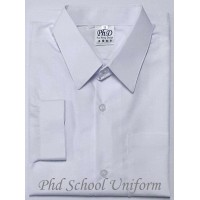 PhD White Long Sleeves School Uniform