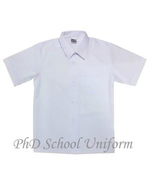 Size 09-14.5 PhD White Short Sleeves School Uniform | Baju Sekolah Lengan Pendek Putih