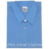 Size 10-14.5 PhD Blue Short Sleeves School Uniform | Baju Sekolah Lengan Pendek Biru