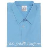 Size 10-16.5 PhD Light Blue Short Sleeve Shirt School Uniform | Baju Seragam Sekolah Lengan Pendek Biru Muda