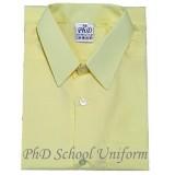 Size 9-19 PhD Yellow Shirt Short Sleeve School Uniform | Baju Kuning Seragam Sekolah Lengan Pendek Berkualiti