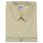 Size 10-14.5 PhD Beige Short Sleeves School Uniform | Baju Sekolah Lengan Pendek Beige
