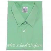 Size 10-14.5 PhD Light Green Short Sleeves School Uniform | Baju Sekolah Lengan Pendek Hijau Muda