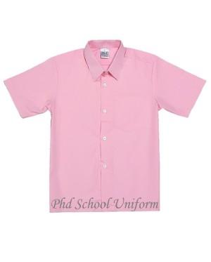 Size 9-19 PhD Pink Shirt Short Sleeve Best School Uniform   Baju Sekolah Merah Jambu Berkualiti Seragam Lengan Pendek