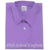 Size 9-19 PhD Purple Shirt Short Sleeve Best School Uniform | Baju Sekolah Ungu Seragam Lengan Pendek Berkualiti