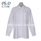 Size 10-19 PhD White Shirt Long Sleeve Best School Uniform | Baju Sekolah Seragam Lengan Panjang Putih Lembut Selesa