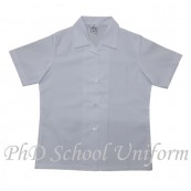 PhD School Uniform Girl White Blouse (Size 14-22) | Baju Sekolah Perempuan Lengan Pendek Putih