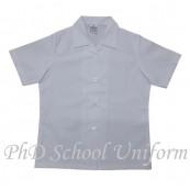 PhD School Uniform Girl White Blouse (Size 18-22) | Baju Sekolah Perempuan Lengan Pendek Putih