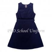 Waist 26 Length 26, 28, 30, 32, 34 PhD School Uniform Primary Dress School Pinafore-Navy | Baju Seragam Sekolah Rendah Perempuan