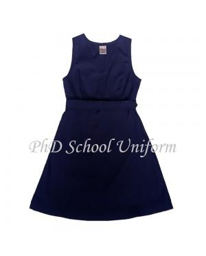 Waist 32 Length 32,34,36,38 PhD School Uniform Primary Dress School Pinafore-Navy  Baju Seragam Sekolah Rendah Perempuan