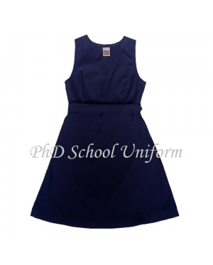 Waist 34 Length 34, 36, 38 PhD School Uniform Primary Dress School Pinafore-Navy | Baju Seragam Sekolah Rendah Perempuan