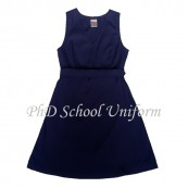 Waist 40 Length 38, 40, 42 PhD School Uniform Primary Dress School Pinafore-Navy | Baju Seragam Sekolah Rendah Perempuan