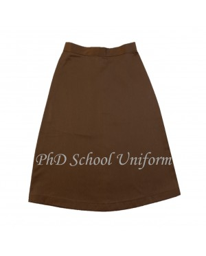 Waist 34 Length 24,25,26  PhD Brown Short Skirt School Uniform | Skirt Pendek Coklat Seragam Sekolah Perempuan
