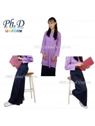 PhD School Uniform (Size 18-28) Kain Kurung Primary Sekolah-Biru Tua/Navy