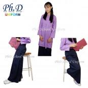 PhD School Uniform (Size SSx40-XXL) Kain Kurung Pengawas Sekolah-Biru Tua/Navy