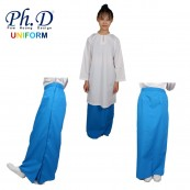 PhD School Uniform (Size SS-XXL) Kain Kurung Secondary | Kain Kurung Sekolah Menengah-Biru Turquoise