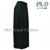 PhD School Uniform (Size 24-28 & XS-XXL) Black Maxi | Long Skirt | Kain Skirt Labuh Hitam Sekolah-Berlipatan Belakang