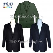 Size SSS,XS,S,M,L&XL PhD School Black, Navy & Olive Blazer/ Jacket/ Coat Sekolah-Hitam, Biru Tua & Hijau Olive