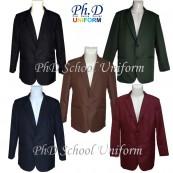Size SSS,XS,S,M,L&XL PhD School Black, Navy, Olive, Brown, Maroon Blazer/Jacket/Coat Sekolah-Hitam, Biru Tua, Hijau Olive, Coklat, Merah Maroon