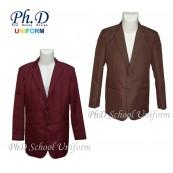 Size SSS, XS, S, M, L & XL PhD School Brown & Maroon Blazer/ Jacket/ Coat Sekolah-Coklat & Maroon Merah