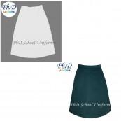 Waist 24-36 Length 23,24,25,26 PhD White/KRS Green/Lain School Short Skirt Custom Made | Tempahan-Skirt Pendek Putih/KRS Hijau Seragam Sekolah Perempuan