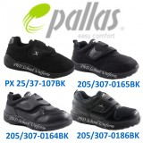 Pallas Black Primary School Shoe Single Velcro Strap | Kasut Hitam Sekolah Rendah