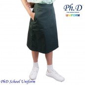 Waist 24,25,26,27,28,29,30 Length 23,24,25,26  PhD Olive Green Short Skirt School Uniform | Skirt Pendek Hijau Seragam Sekolah Perempuan