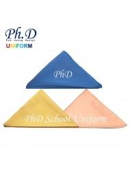 S, M, L & XL PhD School Tudung Koshibo Kain Licin Sekolah Deep Blue-Biru, Deep Yellow-Kuning, Light Peach-Pic Muda.,